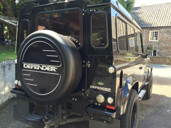 LAND ROVER DEFENDER 4x4 Spare Wheel Cover DECAL STICKER
